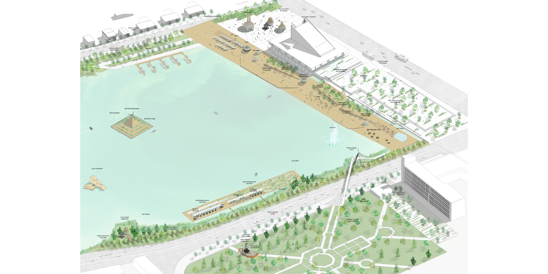 Kaban Lakes Embankments Concept