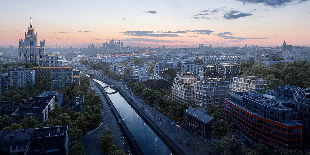 Residential complex in the center of Moscow