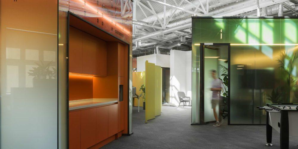 Офис IT-подразделения Raiffeisen TechCenter